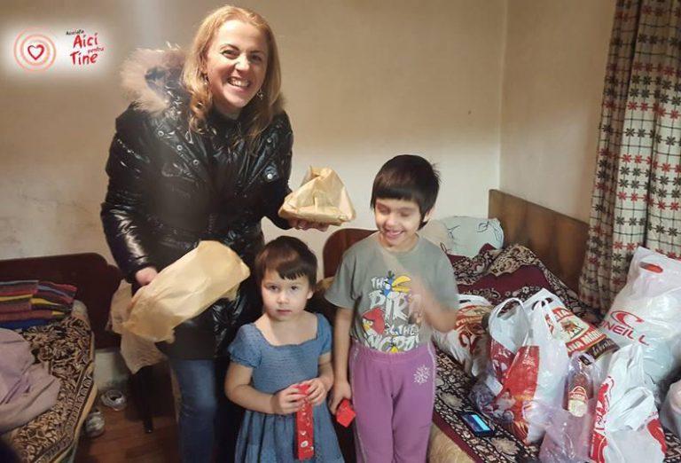 Sprijin pentru o familie nevoiașă cu 4 copilași