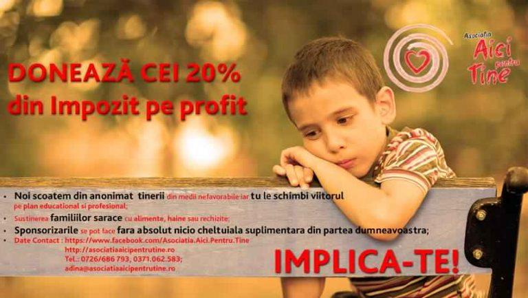 Donează 20% din impozitul pe profit, pentru copiii din centrele de plasament